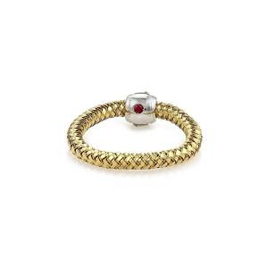 Roberto Coin Primavera Diamond 18k Yellow & White Gold Band Ring