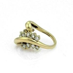 Jose Hess 2.00ct Diamond 18k Yellow Gold Curved Loop Ring