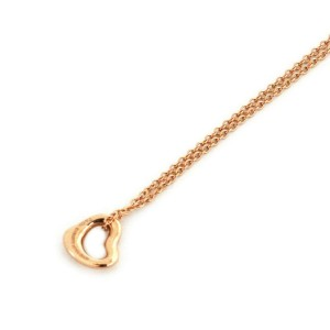 Tiffany & Co. Peretti Mini 18k Rose Gold Open Heart Pendant