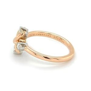 Tiffany & Co. Schlumberger Lynn Diamond Platinum 18k Rose Gold Ring
