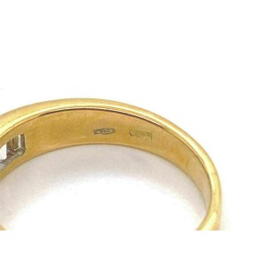 Salvini Baguette Diamonds 18k Yellow Gold Wedding Band Ring