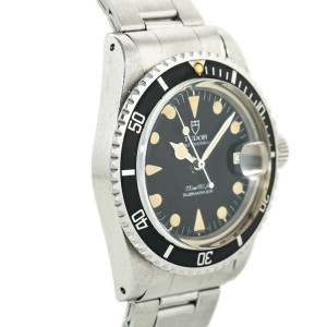 Tudor Submariner Lollipop 76100 Patina Black Dial Vintage Mens Watch 40MM