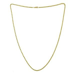 """14k Yellow Gold 25"""" Rope Chain"""