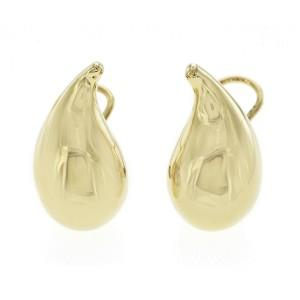 Tiffany & Co, Elsa Peretti 18K Yellow Gold 21.1 Grams Large Tear Drop Earrings
