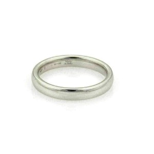 Damiani Noi Due 18k White Gold 3.5mm Plain Wedding Band