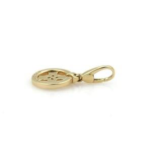 Bvlgari Tondo 18k Yellow Gold Cross Circle Charm Pendant