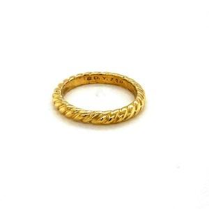 David Yurman Classic 18k Yellow Gold 2.7mm Wide Cable Band Ring