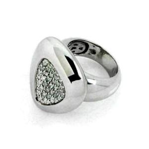 Roberto Coin Capri Plus Diamond Sterling Silver Ring Size 6