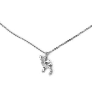 Tiffany & Co. Diamond 18k White Gold Salamander Pendant