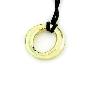 Tiffany & Co. Peretti Sevillana 18k Yellow Gold Pendant & Black Silk Cord