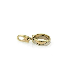 Cartier Mini Wave Band 18k Two Tone Gold Charm