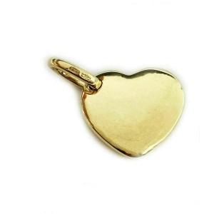 Pomellato Puffed 18k Yellow Gold Heart Pendant