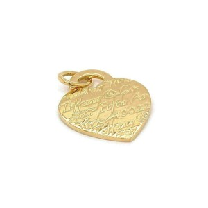 Tiffany & Co. Notes 18k Yellow Gold Medium Size Heart Charm Pendant