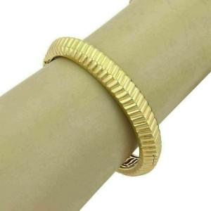 Tiffany & Co. Vintage 18k Yellow Gold Fancy Ribbed Design Bangle Bracelet
