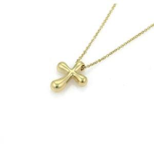 Tiffany & Co. Peretti Ruby 18k Yellow Gold Cross Pendant Necklace