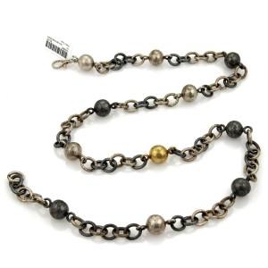 Gurhan Ballon Balls Sterling & 24k Gold Layered Chain Necklace