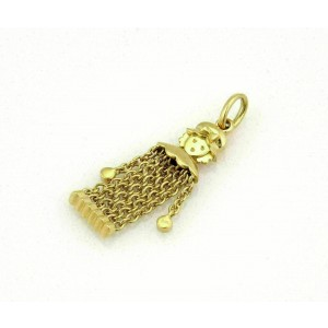 Pomellato 18k Yellow Gold Dangling Girl Flex Chain Pendant