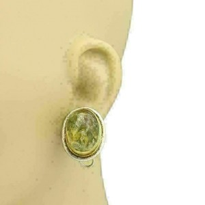Gurhan GALAPAGOS Phantom Clear Quartz Sterling 24k Overlay Gold Earrings