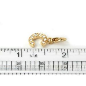 Chanel Diamond 18k Yellow Gold C Charm Pendant