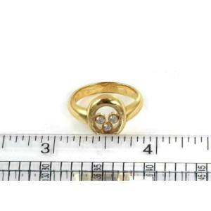 Chopard Happy Diamond 18k Yellow Gold Oval Top Ring