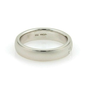 Hearts on Fire Duet Satin Diamond 18k White Gold Band Ring Size 9