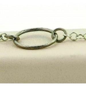 "Gurhan HOOPLA Dark & White Sterling & 24k Gold Circle Necklace 50"""