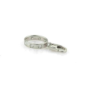 Cartier Love 7 Diamond 18k White Gold Mini Ring Charm