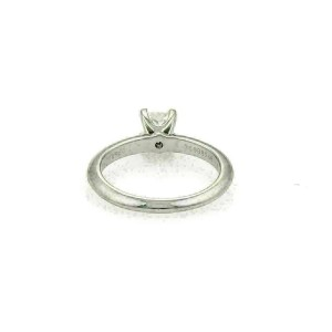 Tiffany & Co. 0.32ct F VVS2 Princess Diamond Platinum Engagement Ring w/Cert