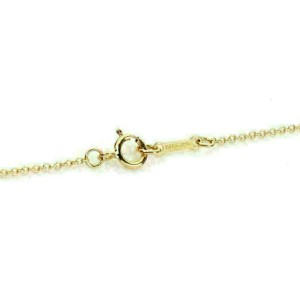Tiffany & Co Picasso Sugar Stack Black Spinel 18k Rose Gold Mini Pendant & Chain