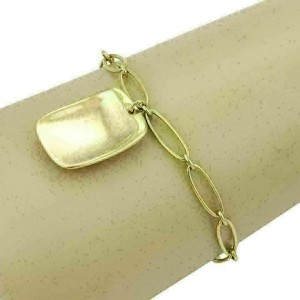 Tiffany & Co. Elsa Peretti 18k Yellow Gold Bracelet & Rectangular Charm