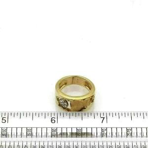 Carrera y Carrera Diamond 18k Yellow Gold Woman Face Band Ring