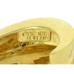 Le Beau Vintage Diamond 18k Yellow Gold Double Oval Hoop Earrings