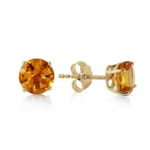 0.95 CTW 14K Solid Gold Somebody To Love Citrine Earrings
