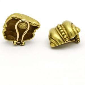 Kieselstein-Cord Small Shell Swirl Clip-On earrings in 18k Yellow Gold