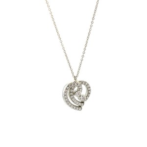 Tiffany & Co. Enchant Diamond Heart Pendant Necklace in Platinum ( .33 cttw )