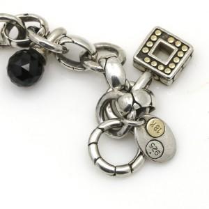 John Hardy Kali Toggle Charm Bracelet in Sterling Silver and 18k Gold