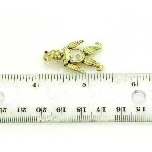 Chopard Animated Diamonds & Rubies 18k Yellow Gold Clown Charm Pendant