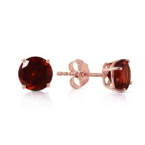0.95 CTW 14K Solid Rose Gold Petite Garnet Stud Earrings