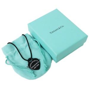 Tiffany & Co Silver 925 Heart Tag Pendant Cord Necklace