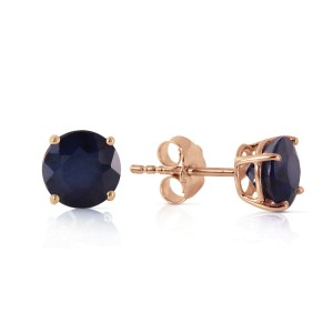 0.95 CTW 14K Solid Rose Gold Petite Sapphire Stud Earrings