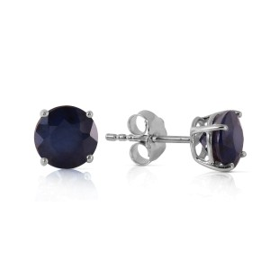 0.95 CTW 14K Solid White Gold In Wonderland Sapphire Earrings