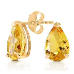 3.15 CTW 14K Solid Gold Cherished Seconds Citrine Earrings