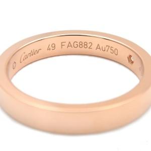 Cartier Engraved 1P Diamond & K18 Rose Gold Ring TNN-941