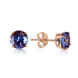 0.95 CTW 14K Solid Rose Gold Anna Tanzanite Stud Earrings