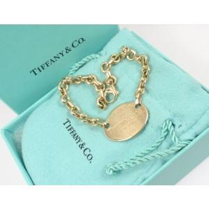 Tiffany & Co. 18K Yellow Gold Oval Tag Charm Bracelet