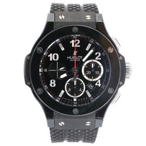 Hublot Big Bang Black Magic Chronograph 44MM Black Ceramic Case/Rubber Strap Watch 301.CX.130.RX Box Papers