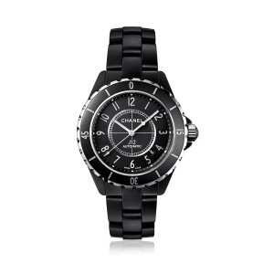 J12 Black Ceramic Unisex Watch 38mm Automatic