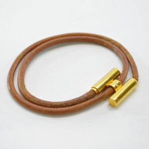 Hermes Metal Leather Bracelet