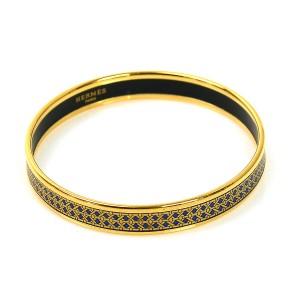 Hermes Gold Metal Bangle Bracelet