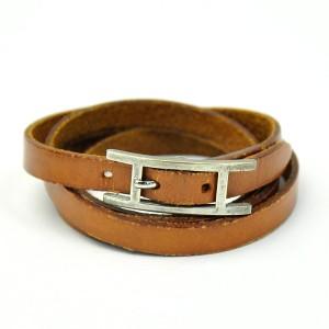 Hermes Leather And Metal Bracelet